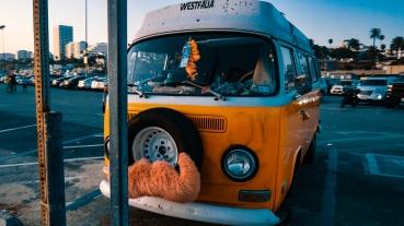 Orange Van in Santa Monica